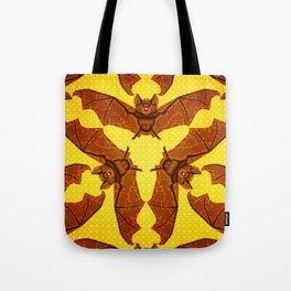Geometric Bat Pattern - Golden version Tote Bag