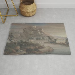 Landscape Chinese - River mountain Rug