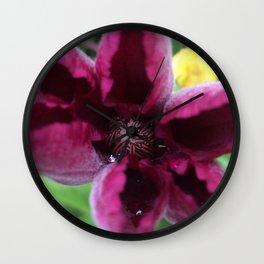 Pink Clematis #1 Wall Clock