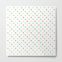 Pacman polka dots Metal Print
