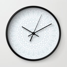 Minimal Minimalistic Light Cool Gray Mandala Wall Clock