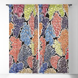 Grapes for wine lovers, gastronomy and restaurants Blackout Curtain