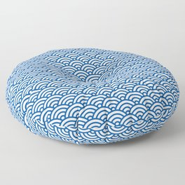 """""""Seigaiha"""" Japanese traditional pattern Floor Pillow"""