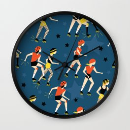 Roller Derby Girls Wall Clock