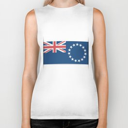 Flag of Cook Islands. The slit in the paper with shadows. Biker Tank