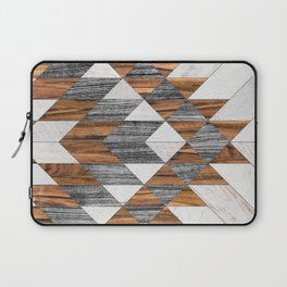 Urban Tribal Pattern 12 - Aztec - Wood Laptop Sleeve