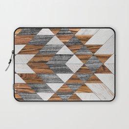Urban Tribal Pattern No.12 - Aztec - Wood Laptop Sleeve