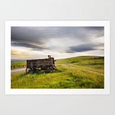 Western Wagon. Art Print