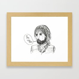 thom the yorke Framed Art Print