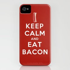 Keep calm and eat bacon Slim Case iPhone (4, 4s)