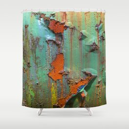Flaking Paint on Rust Shower Curtain