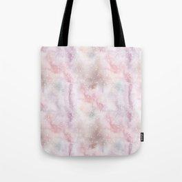 Mauve pink lilac white watercolor paint splatters Tote Bag