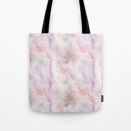 Mauve pink lilac white watercolor paint splatters Tote Bag