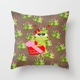 For My Sweetie Throw Pillow