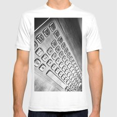 Keyboard SMALL White Mens Fitted Tee