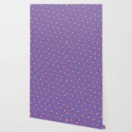 Girl Power Pattern in Purple Wallpaper