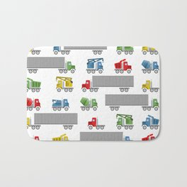 Trucks Childrens Room Decor Bath Mat
