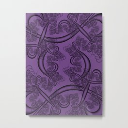 Royal Lilac Fractal Metal Print