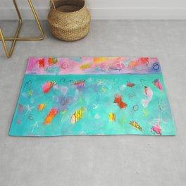 Modern Large Abstract Painting 21 by Bernard Teklic Rug