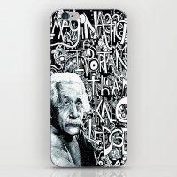 einstein iPhone & iPod Skins featuring Einstein.  by Will Santino
