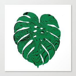 Monstera cheese plant house plants yoga studio minimalist art hipster decor Canvas Print