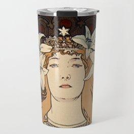 Sarah BERNHARDT La Princesse Lointaine Alphonse MUCHA  Travel Mug