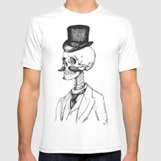Old Gentleman  White MEDIUM Mens Fitted Tee