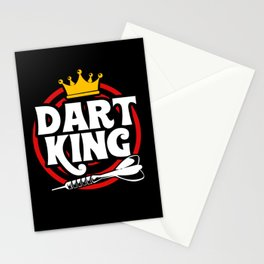 Dart Darts King Dad Father Son Dart Player Sports Stationery Cards