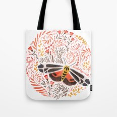 Banded Tiger Moth Tote Bag