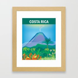 Costa Rica - Skyline Illustration by Loose Petals Framed Art Print
