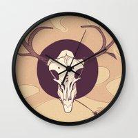 hamlet Wall Clocks featuring Ho, Hamlet. by J. Kiakas
