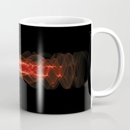 Plasma or high energy particles concept. Red glowing energy waves on black Coffee Mug