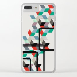 Rhombus Op-art Clear iPhone Case
