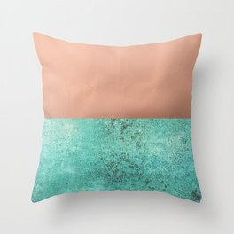 NEW EMOTIONS - ROSE & TEAL Throw Pillow