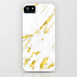 Gold Marble - Yellow Gold Marble Metallic iPhone Case