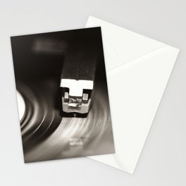 Music From a Vintage 45 RPM Record Playing on a Turntable Stationery Cards