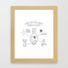 How Can You Mend a Broken Heart Framed Art Print