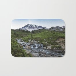 Edith Creek and Mount Rainier Bath Mat