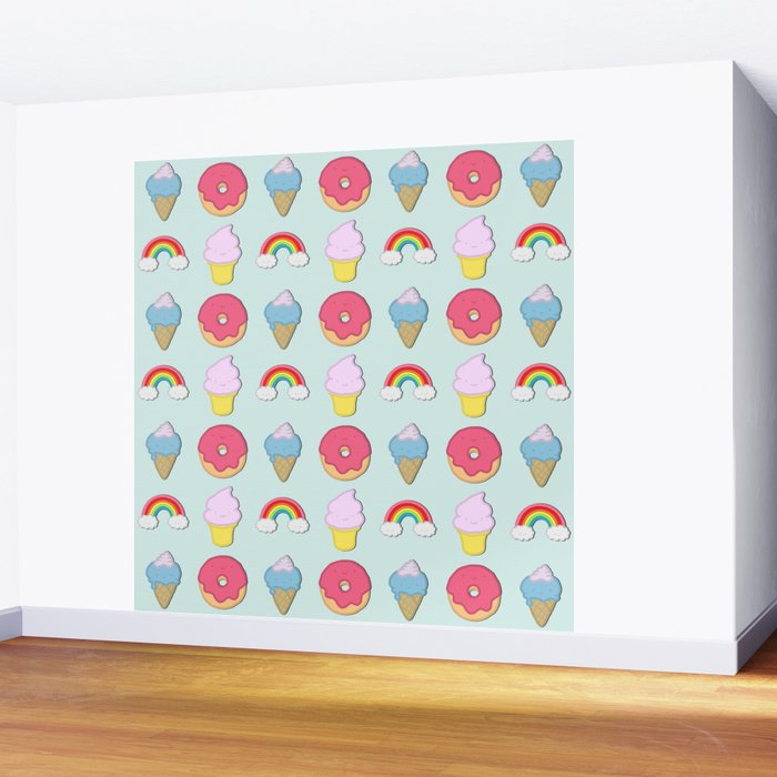Happy Candyland Wall Mural by eugeniaart Society6