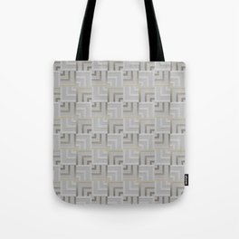 Bronze and Silver Squares Tote Bag