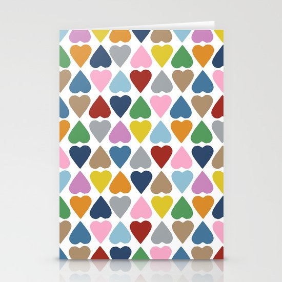 Diamond Hearts Repeat Stationery Cards