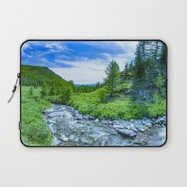 The Altai landscape with mountain river and green rocks, Siberia, Altai Republic, Russia Laptop Sleeve