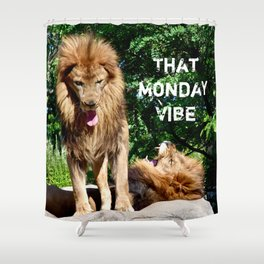 That Monday Vibe Shower Curtain