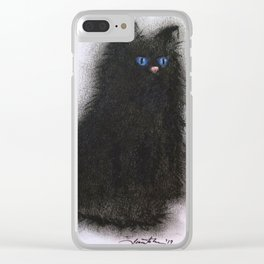 Smudge Cat 1 Clear iPhone Case
