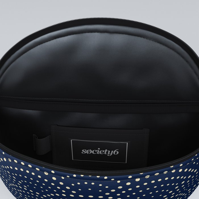 Japanese Blue Wave Seigaiha Indigo Super Moon Pattern Fanny Pack