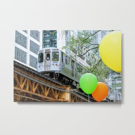 Chicago midway train Metal Print