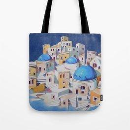 Memory of Santorini Tote Bag