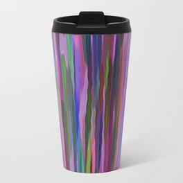 Swimming Stripes, Purple Metal Travel Mug