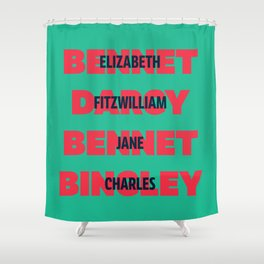 First and Last Names Pride and Prejudice Shower Curtain