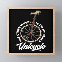Unicycle Wheel Framed Mini Art Print